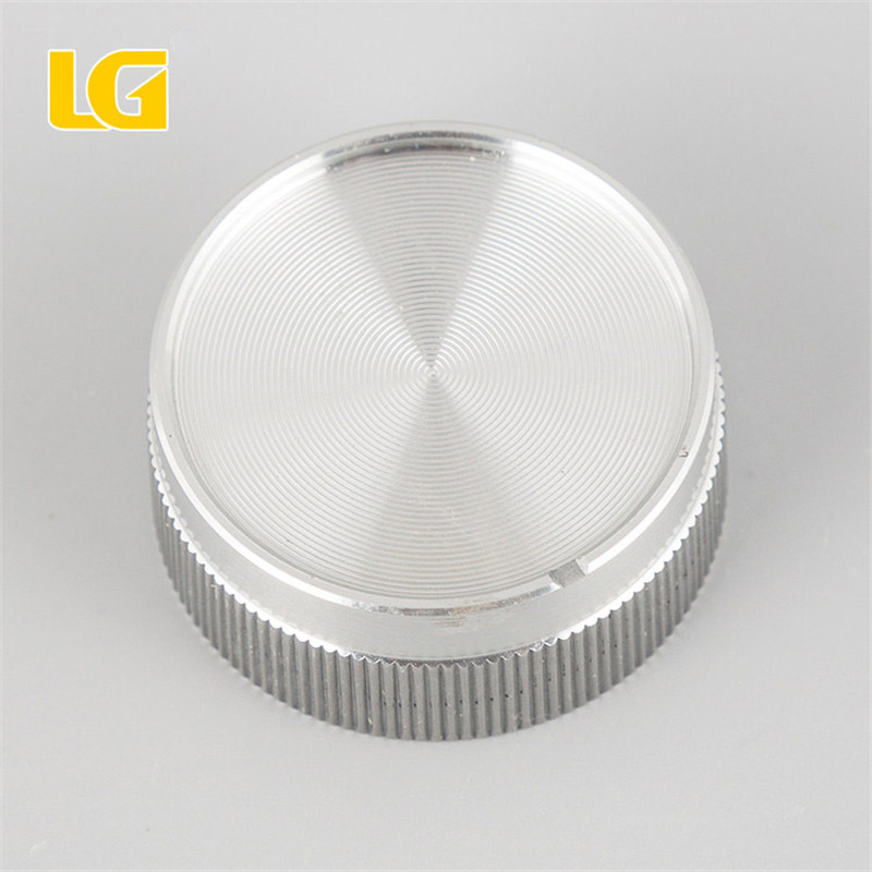 ISO9001 OEM China factory 40mm safe Aluminum white volume knob for car audio