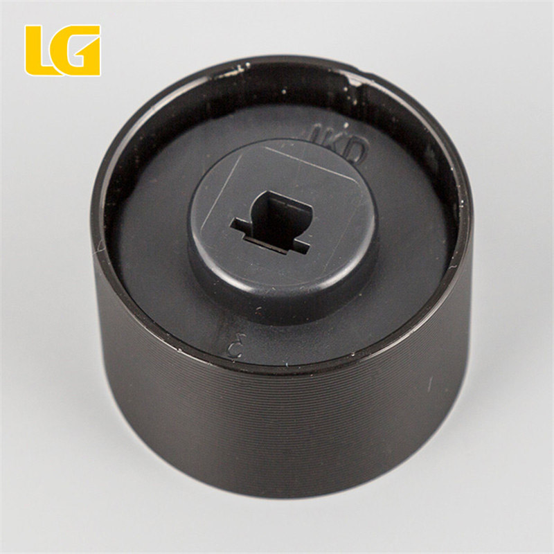 ISO9001 OEM Ningbo China Round black aluminum alloy knob with high quality