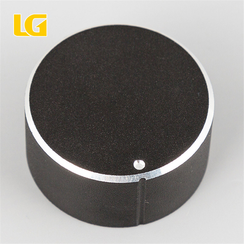 Durable Black Aluminum Alloy volume knob