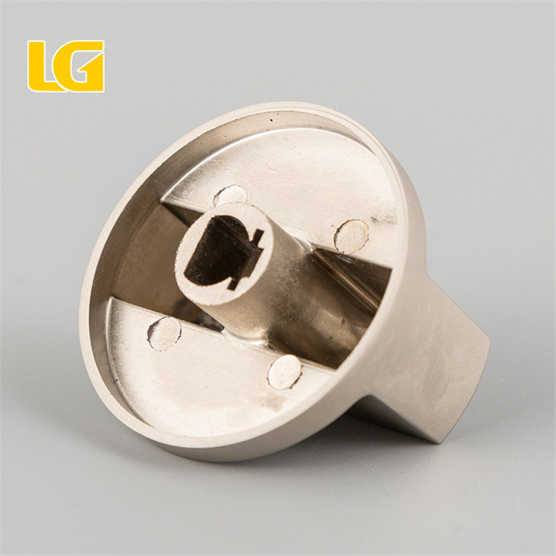 ISO9001 OEM China manufacturer kitchen electric oven knob with matte nickel finish