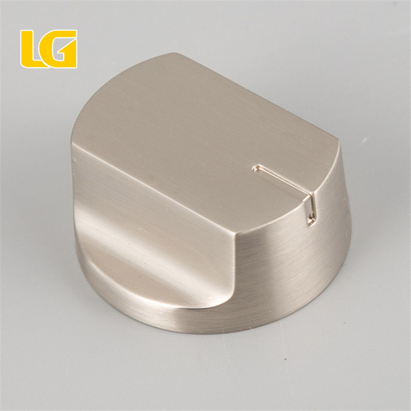 ISO9001 OEM Ningbo China High Quality Gas Stove Knob with brushed nickel finish