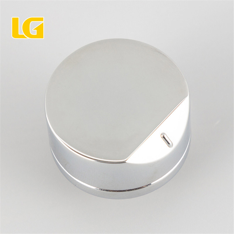 ISO9001 OEM Ningbo Lianggong China Aluminum Silver Knob for kitchen Gas Stove