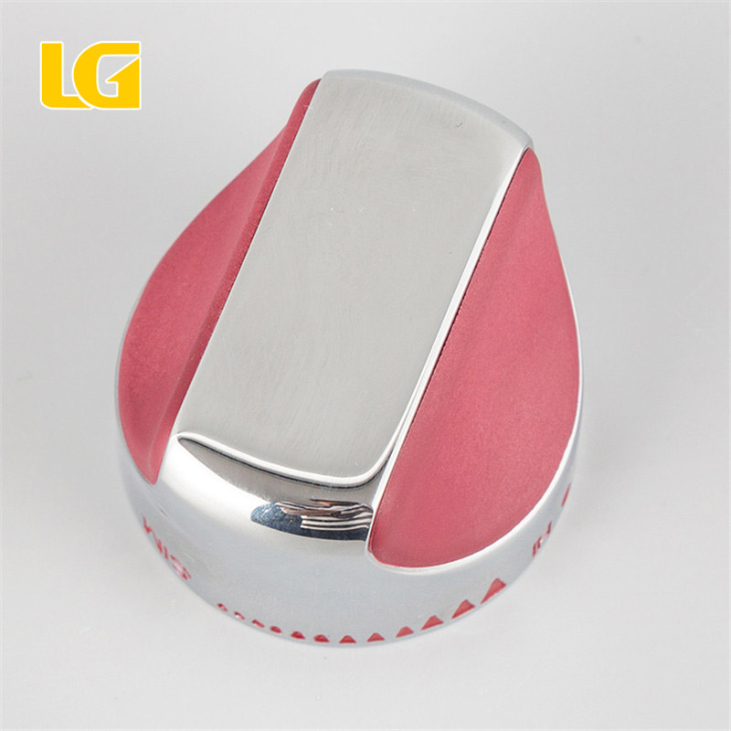 ISO9001 OEM Ningbo LG wholesale gas cooker chrome and red heat control knob