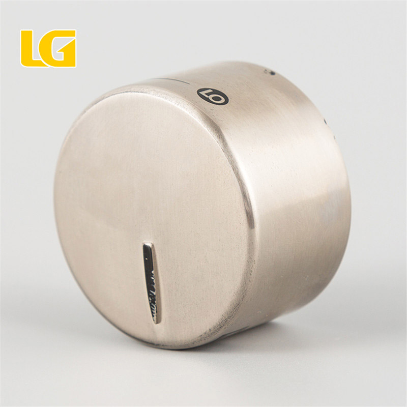 ISO 9001 OEM China Factory manufacturer made round brushed nickel oven knob